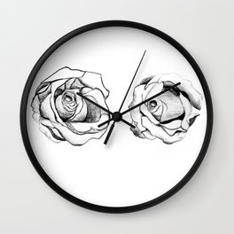 Two Roses for my Friends Wall Clock