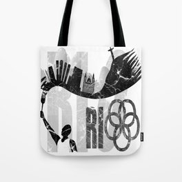 Rio de Janeiro looks like undying flame in grunge style Tote Bag