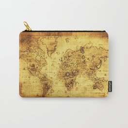Arty Vintage Old World Map Carry-All Pouch