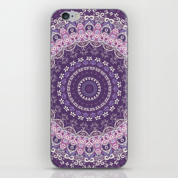 Purple Lace Mandala iPhone Skin