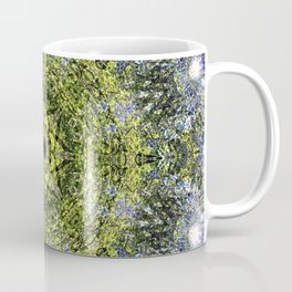 Light Shining Through a Tree Fractal Coffee Mug
