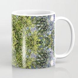 Light Shining Through a Tree Fractal Coffee Mug