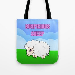 Suspicious Sheep Tote Bag