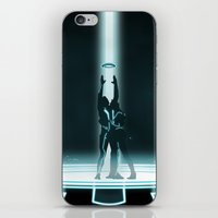 tron iPhone & iPod Skins featuring TRON PORTAL by ED13