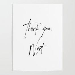 Ariana G. Quote, Thank U, Next, Lyrics, Home Decor, Wall Art, Wall Decor Poster