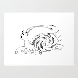 Ten-fingered snail Art Print