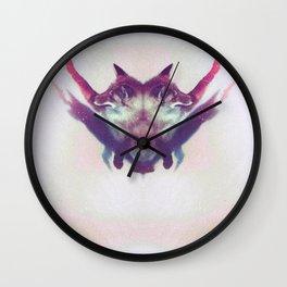 Foxy Salutations Wall Clock