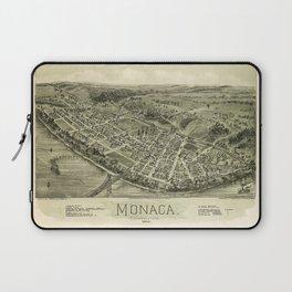 Aerial View if Monaca, Pennsylvania (1900) Laptop Sleeve