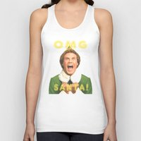 will ferrell Tank Tops featuring OMG SANTA! / Elf by Earl of Grey