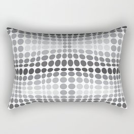 Dottywave - Grey scale wave dots pattern Rectangular Pillow
