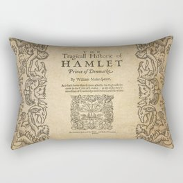 Shakespeare, Hamlet 1603 Rectangular Pillow