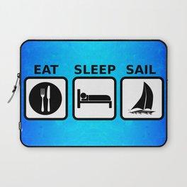 Eat Sleep Sail Laptop Sleeve