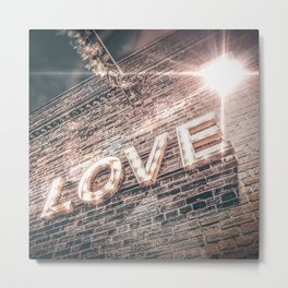 LET LOVE SHINE Metal Print
