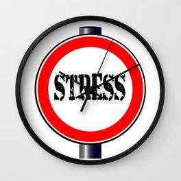 Stress Traffic Sign Wall Clock