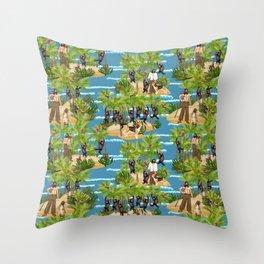 Robinson Crusoe Throw Pillow