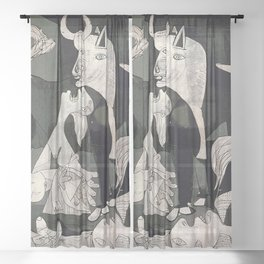 GUERNICA #1 - PABLO PICASSO Sheer Curtain