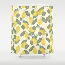 Citrus Pattern Shower Curtain