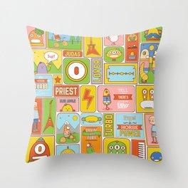 Vector Collage Throw Pillow