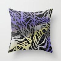 safari Throw Pillows featuring Safari by Vikki Salmela