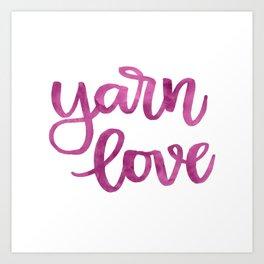 Yarn Love - Fuchsia Art Print