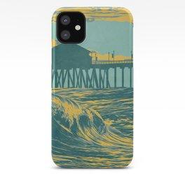 Vintage Huntington Beach Poster iPhone Case