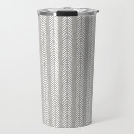 Mud cloth - Grey Arrowheads Travel Mug