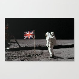 British Flag on the Moon Canvas Print