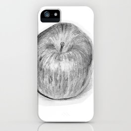 Apple Realistic Pencil Sketch Drawing iPhone Case