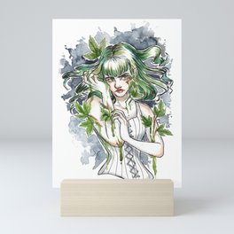 Poison Ivy Inktober Ink and Watercolor Illustration Mini Art Print