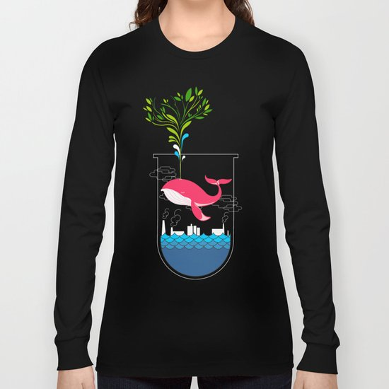 Nature Whale Long Sleeve T-shirt