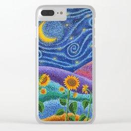 Dream Fields Clear iPhone Case