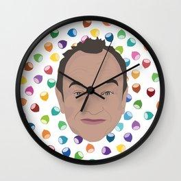 Marcel LeBoeuf et la pluie de noisettes arc-en-ciel Wall Clock