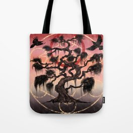 The tree stood at the middle of it all Tote Bag