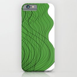 Waves Lines Green iPhone Case