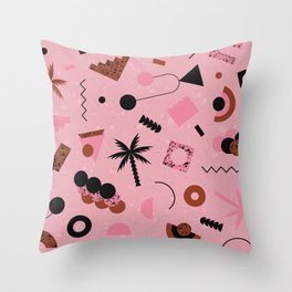 Late nights Throw Pillow