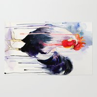 rooster Area & Throw Rugs featuring Rooster  by Slaveika Aladjova