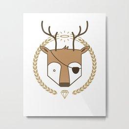 Mr. Deer Metal Print