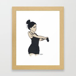 Training Framed Art Print