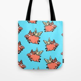 Pigs Can Fly Pattern Tote Bag