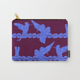 Purple Hummingbirds on Ultraviolet Line Carry-All Pouch
