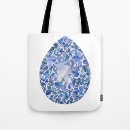 Blue Pear Gem Tote Bag