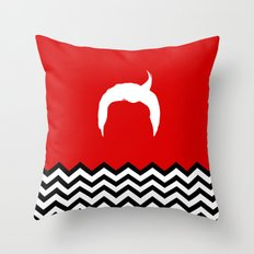 Black Lodge Dreams: Dale Cooper's Hair (Twin Peaks) Throw Pillow