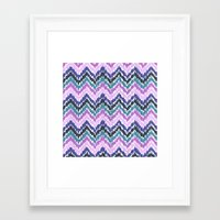 ikat Framed Art Prints featuring Ikat Chevron by Noonday Design