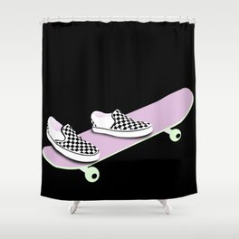 kick, push Shower Curtain