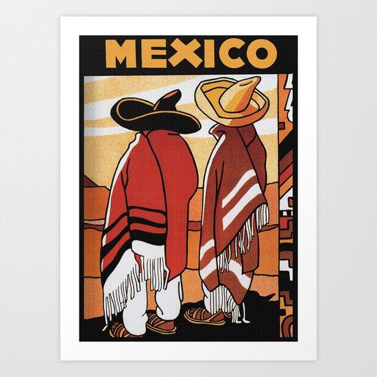 Mexico - Vintage Travel Poster Art Print