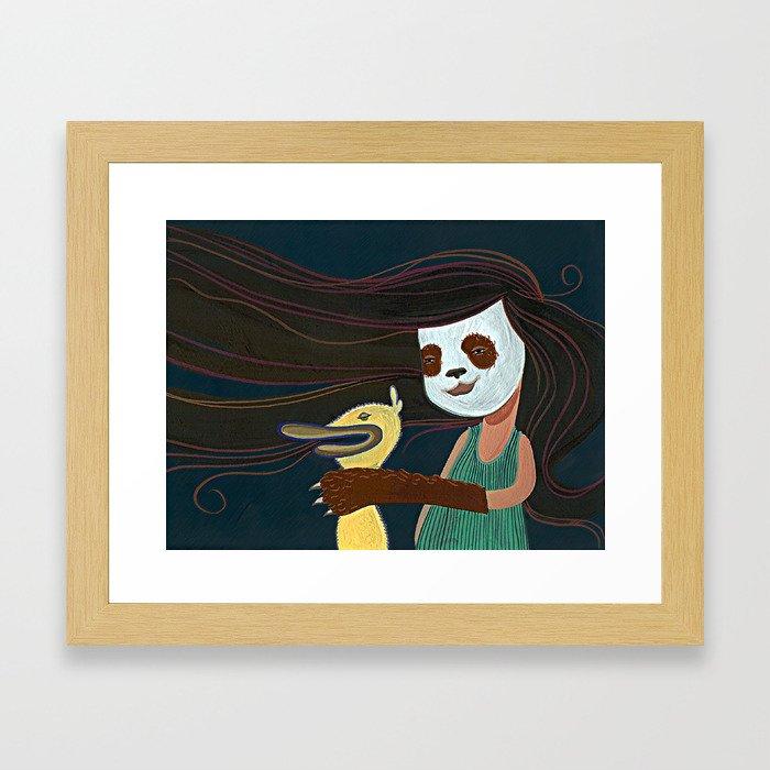 A Matadora de Patinhos Framed Art Print