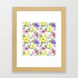 Spring Bouquet Watercolor Framed Art Print