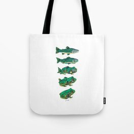 Salmon frog Tote Bag
