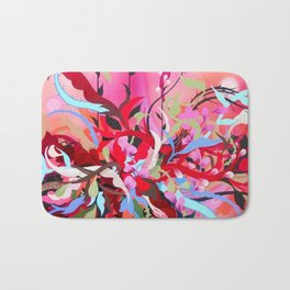 Red Arrangement Bath Mat