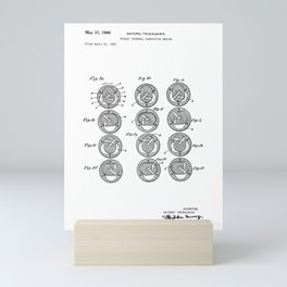 Rotary Internal Combustion Engine Vintage Patent Hand Drawing Mini Art Print